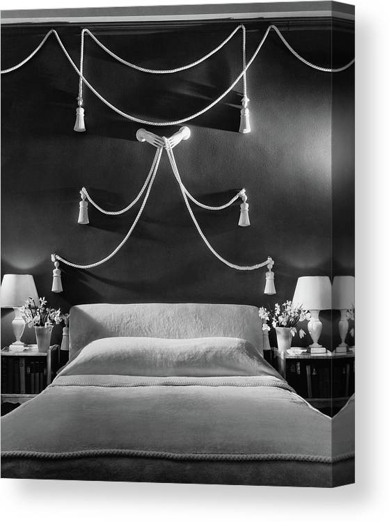 Interior Canvas Print featuring the photograph Rose Hobart's Bedroom by The 3