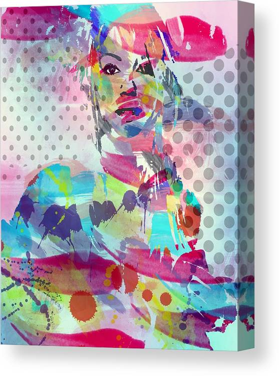 Star Canvas Print featuring the digital art Song by Bogdan Floridana Oana