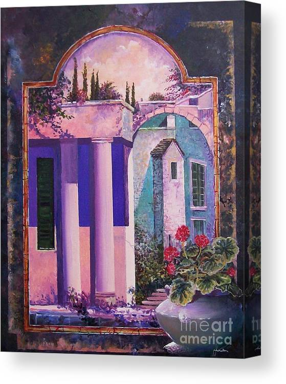 Still Life Canvas Print featuring the painting Structures With Emotional Dimensions by Sinisa Saratlic