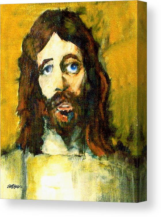 Jesus Christ Canvas Print featuring the painting The Galilean by Seth Weaver