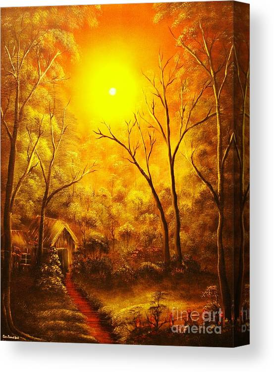 Golden Canvas Print featuring the painting The Golden Dream-original Sold-buy Giclee Print Nr 31 Of Limited Edition Of 40 Prints by Eddie Michael Beck