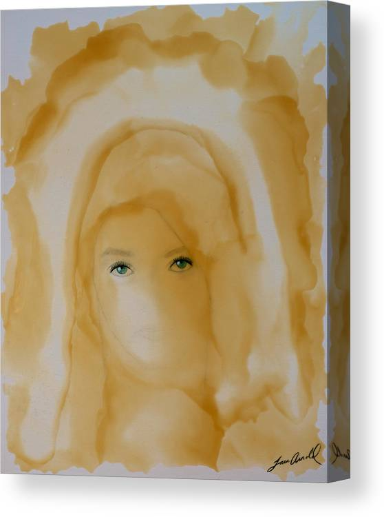 Encaustic Canvas Print featuring the painting The Unveiling by Tara Arnold