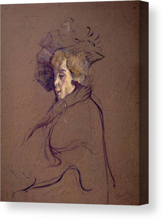 1892 Canvas Print featuring the painting Toulouse-lautrec J by Granger