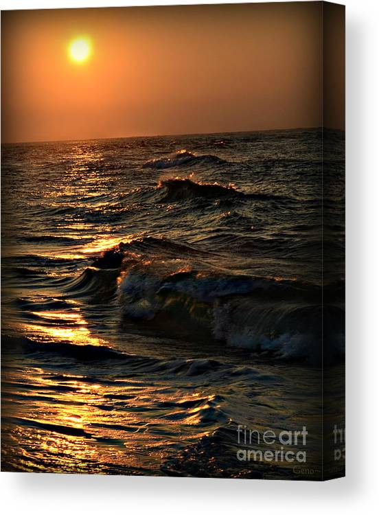 Beach/nature Canvas Print featuring the photograph 'trinity' by Gene Odom