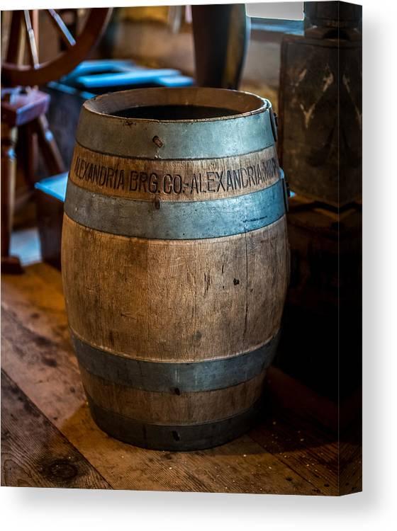 Keg Canvas Print featuring the photograph Vintage Barrel by Paul Freidlund