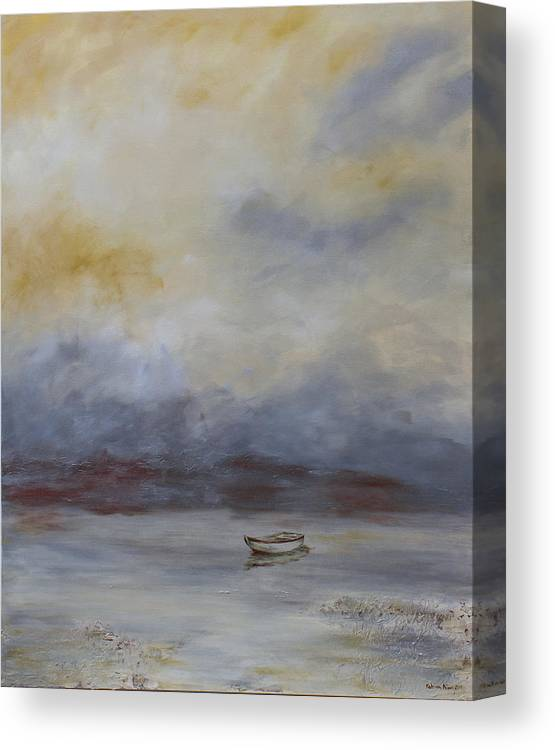 Landscape Canvas Print featuring the painting Solitude 2 by Katrina Nixon