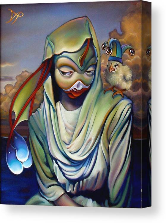 Chicken Canvas Print featuring the painting Binky's Mistress by Patrick Anthony Pierson