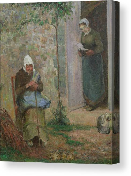 Charity Canvas Print featuring the painting Charity by Camille Pissarro
