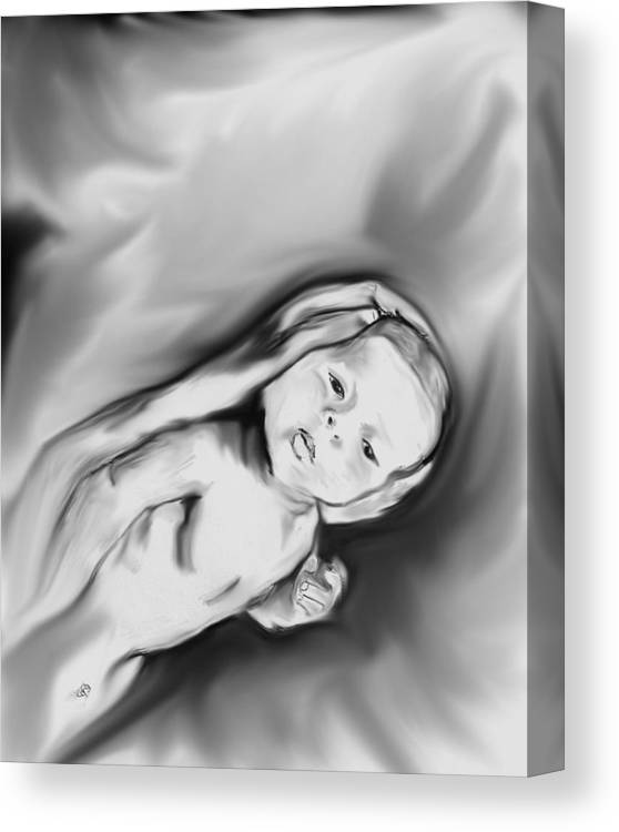 Baby Canvas Print featuring the digital art Comfort by Crystal Webb
