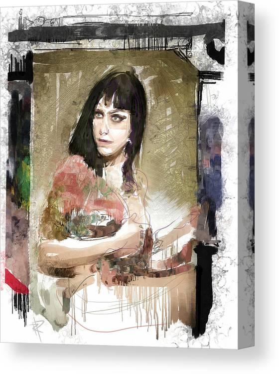 Dannie D Canvas Print Featuring The Digital Art Dannie Diesel By Russell Pierce
