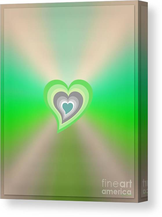 Blue Canvas Print featuring the digital art Floating by Linda Galok