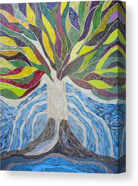 Tree Canvas Print featuring the mixed media The Tree Of Life by Claudia French