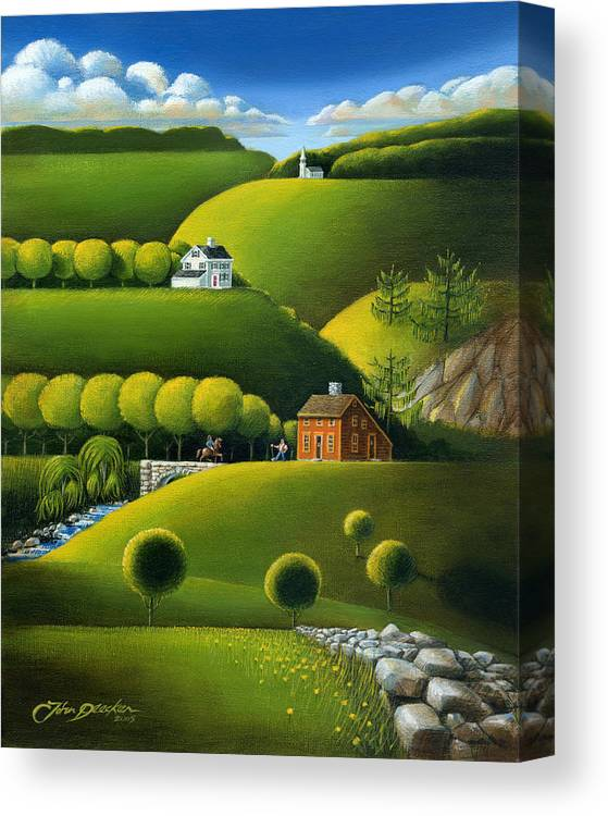 Deecken Canvas Print featuring the painting Foothills Of The Berkshires by John Deecken