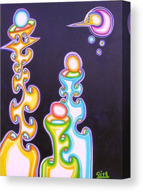 Fantasy Canvas Print featuring the painting 3 T's by      Gillustrator