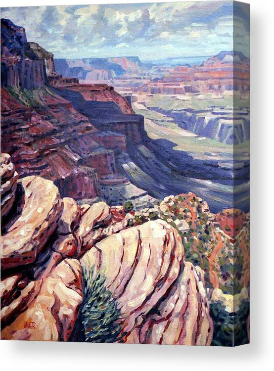 Grand Canyon Canvas Print featuring the painting Canyon View by Donald Maier