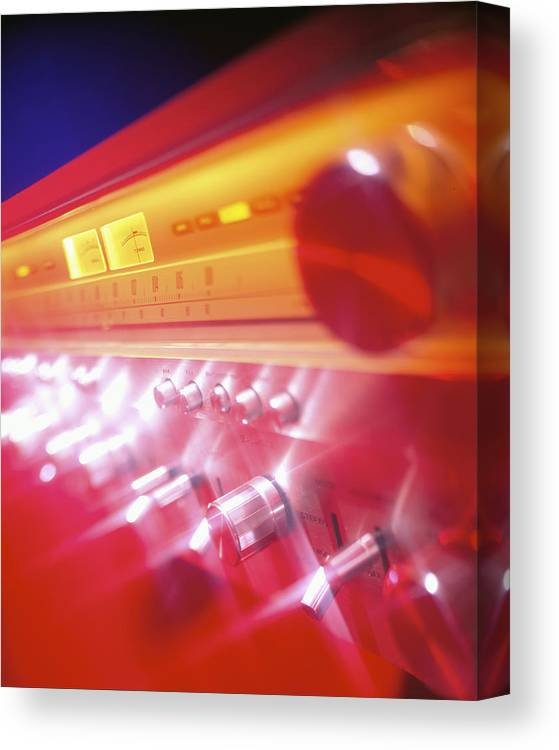 Amp Canvas Print featuring the photograph 60s Amp by Robert Ponzoni