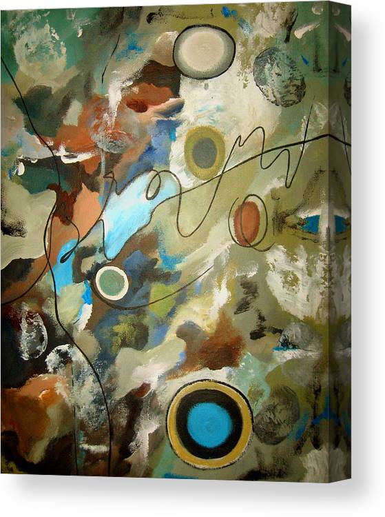 Abstract Canvas Print featuring the painting A Rolling Stone Gathers No Moss by Ruth Palmer