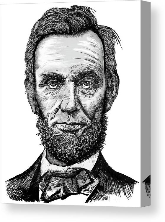 graphic relating to Printable Pictures of Abraham Lincoln referred to as Abraham Lincoln Canvas Print