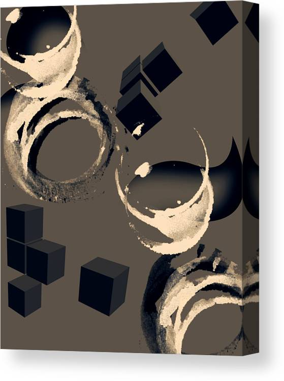 Abstract Living Room Art Canvas Print featuring the digital art Abstract Three by Patricia Motley