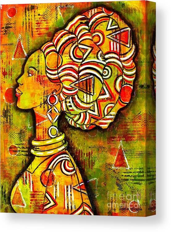 African Queen Canvas Print Canvas Art By Julie Hoyle