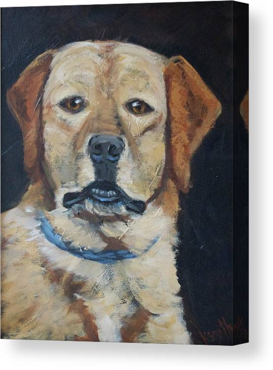 Dog Portrait Canvas Print featuring the painting Best Friend by Karen Smith