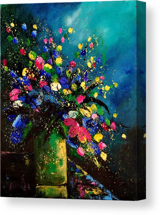 Poppies Canvas Print featuring the painting Bunch 45 by Pol Ledent