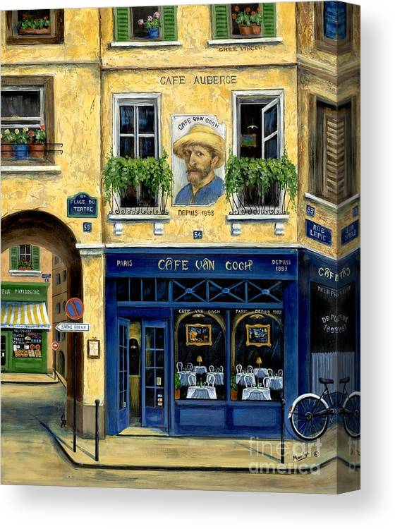 Europe Canvas Print featuring the painting Cafe Van Gogh by Marilyn Dunlap