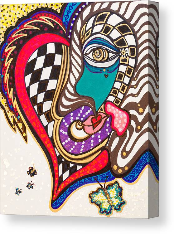 Heart Canvas Print featuring the painting Celebration - Vi by Laurel Rosenberg