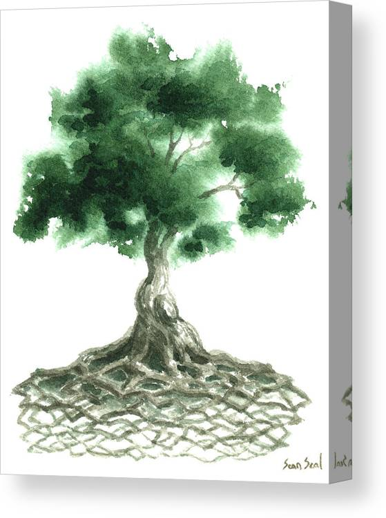 Celtic Tree Of Life Canvas Print Canvas Art By Sean Seal