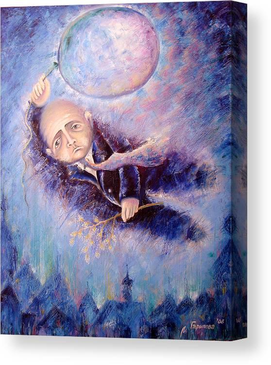 Man Canvas Print featuring the painting Christ Has Risen by Liliya Garipova