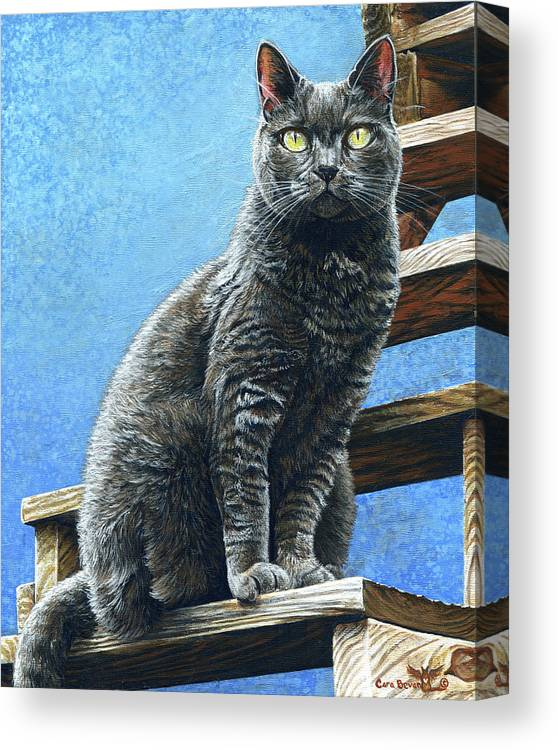 Cleo Canvas Print featuring the painting Cleo by Cara Bevan