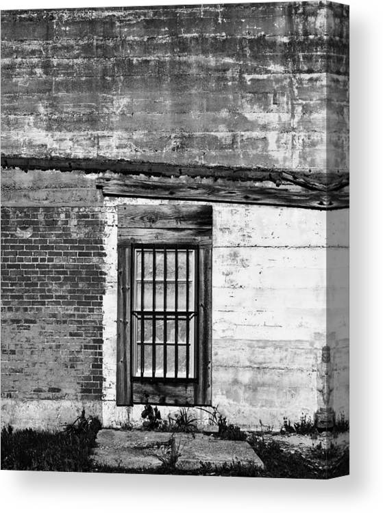Window Photography Canvas Print featuring the photograph Closed For Business 2 by Eric Ziegler