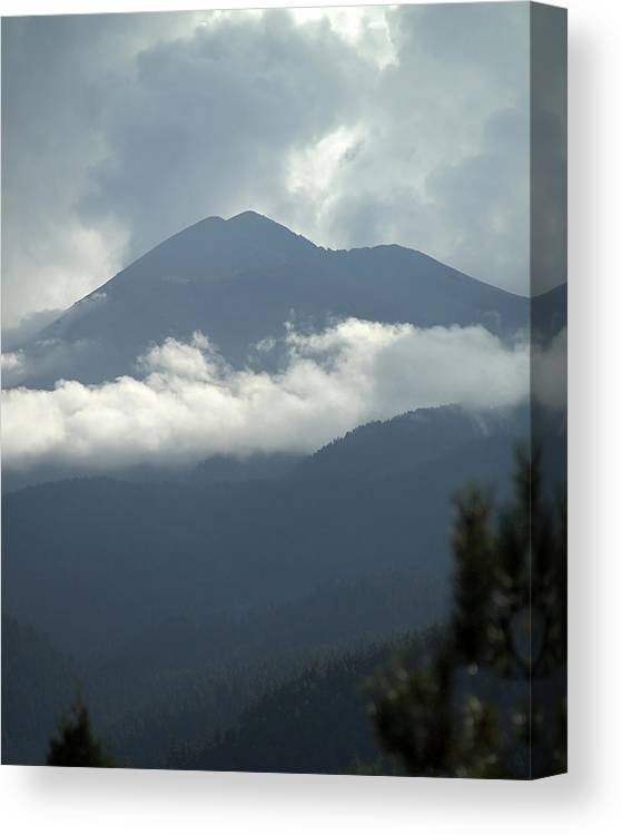 Clouds Canvas Print featuring the photograph Clouds Of Sierra by Harry Noble
