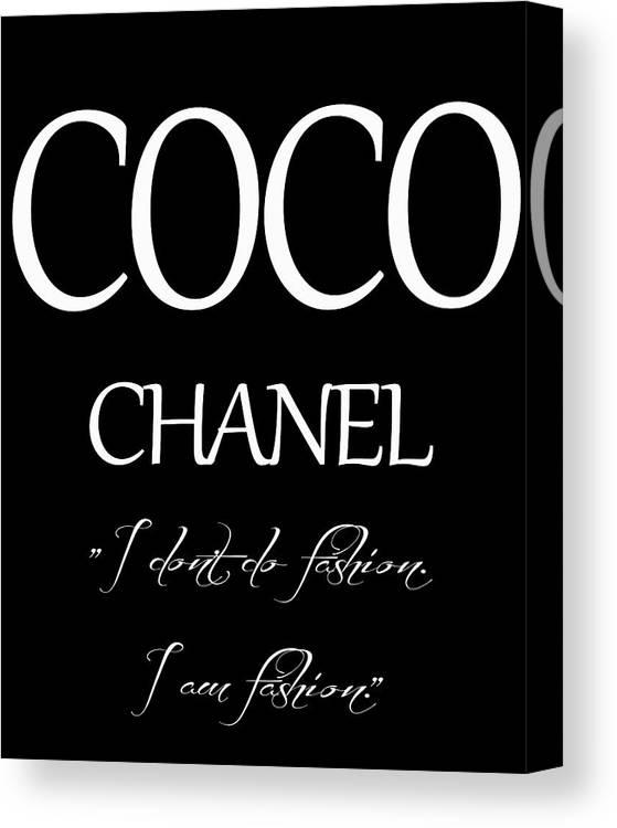 Coco Chanel Quote Canvas Print