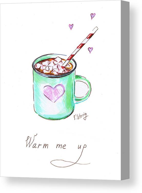Coffee Canvas Print featuring the painting Coffee by Viktoryia Lavtsevich