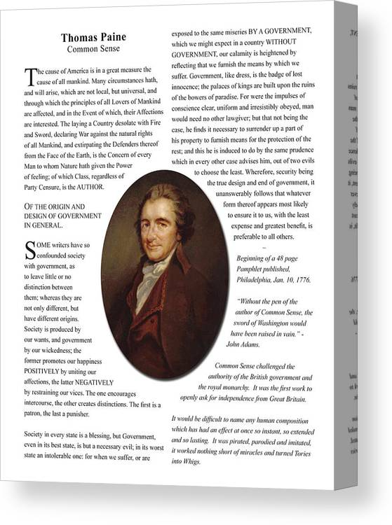 Common Sense Canvas Print featuring the photograph Common Sense by Jacob Cane