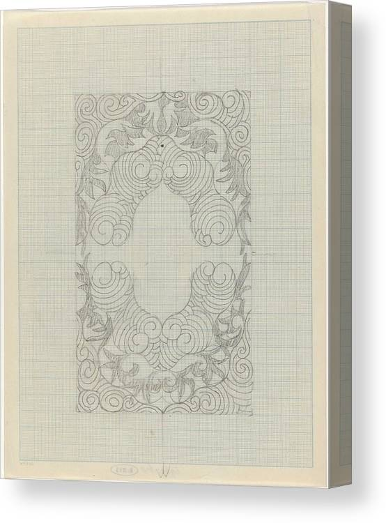Pattern Canvas Print featuring the painting Decorative Design, Carel Adolph Lion Cachet, 1874 - 1945 Te by Carel Adolph Lion Cachet