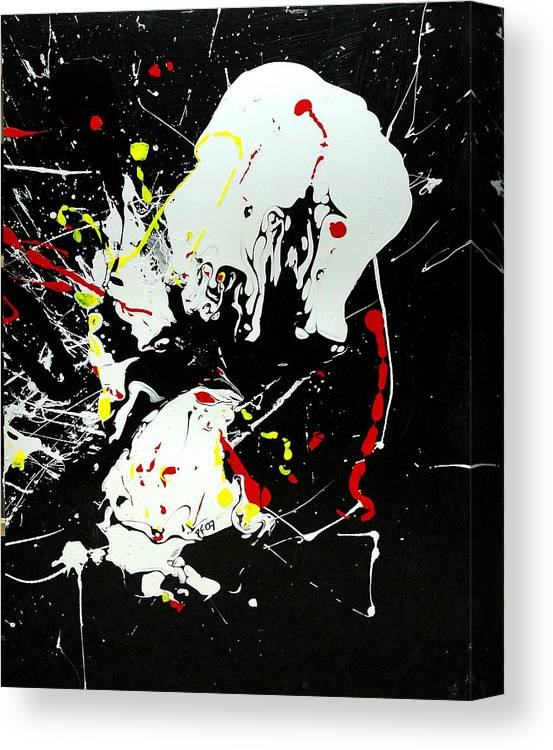 Abstract Canvas Print featuring the painting Encounter 2 by Paul Freidin