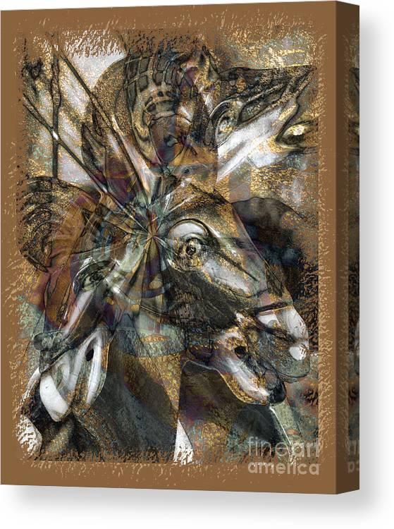 Horse Canvas Print featuring the digital art Equus by Chuck Brittenham