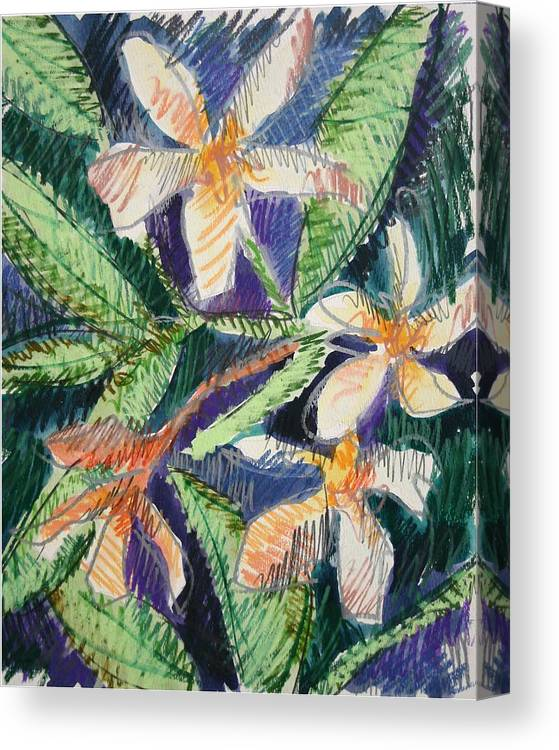 Flower Canvas Print featuring the painting Flora Exotica by Dodd Holsapple