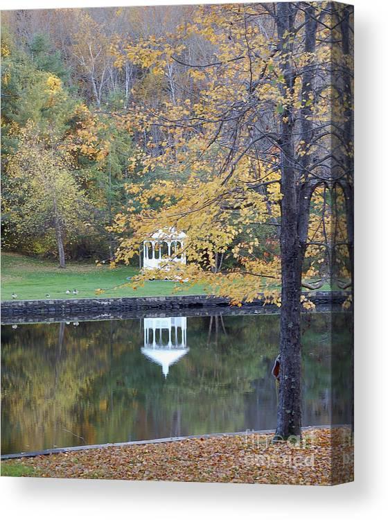 Gazebo Canvas Print featuring the photograph Gazebo Reflection by Faith Harron Boudreau
