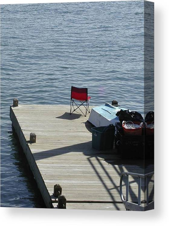 Fishing Canvas Print featuring the photograph Gone Fishing by Faith Harron Boudreau