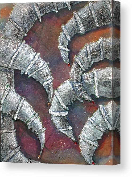 Symbolism Canvas Print featuring the painting Greed by Tracy Henham