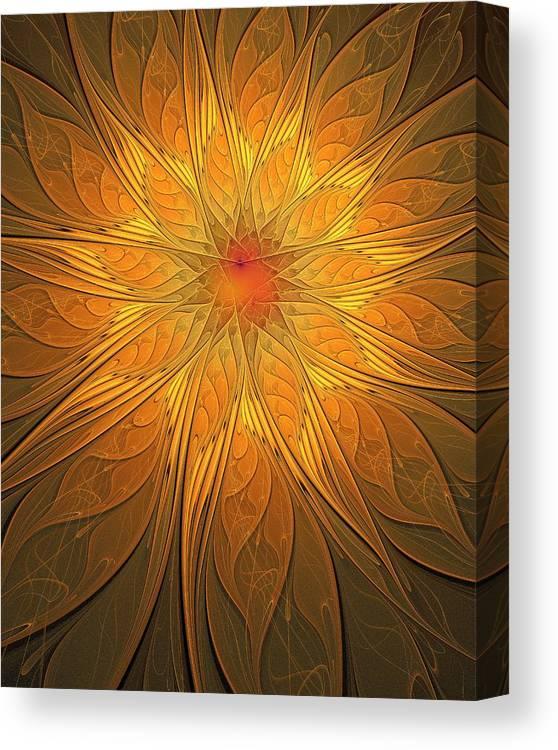 Digital Art Canvas Print featuring the digital art Helio by Amanda Moore
