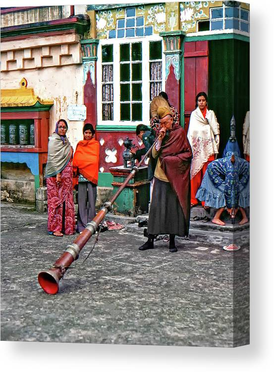 Ghoom Monastery Canvas Print featuring the photograph Huff And Puff by Steve Harrington