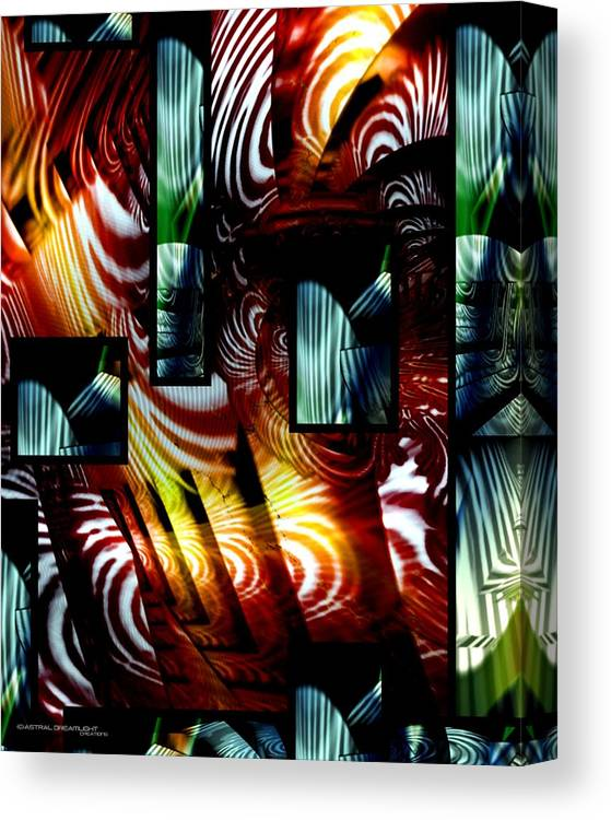 Abstract Canvas Print featuring the painting Intrigue by Dreamlight Creations