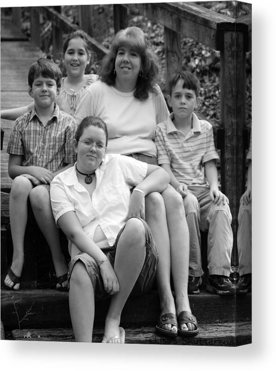 Canvas Print featuring the photograph Julie's Family by Lisa Johnston