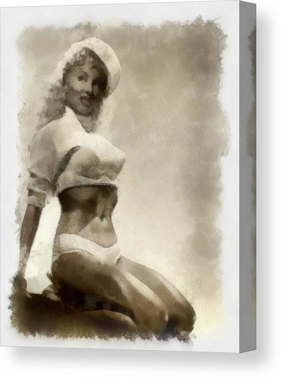 Lilly Christine Pinup Canvas Print Canvas Art By Esoterica Art Agency