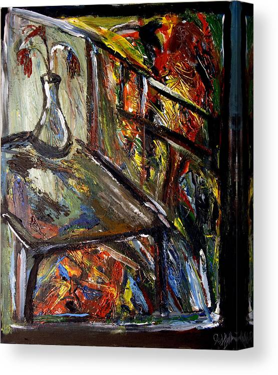 Expressionism Canvas Print featuring the painting Lithium Number One by Jon Baldwin Art