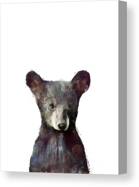 Bear Canvas Print featuring the painting Little Bear by Amy Hamilton